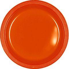 "Orange Dessert Plates, 7"" - 20ct"