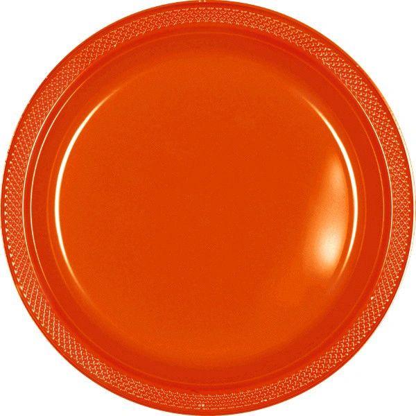 "Orange Dinner Plates, 10 1/4"" - 20ct"