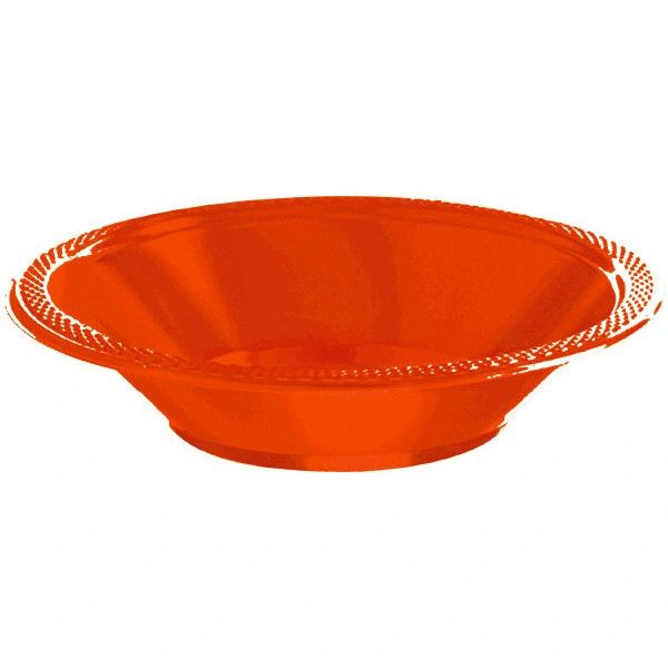 Orange Peel Plastic Bowls, 12oz - 20ct