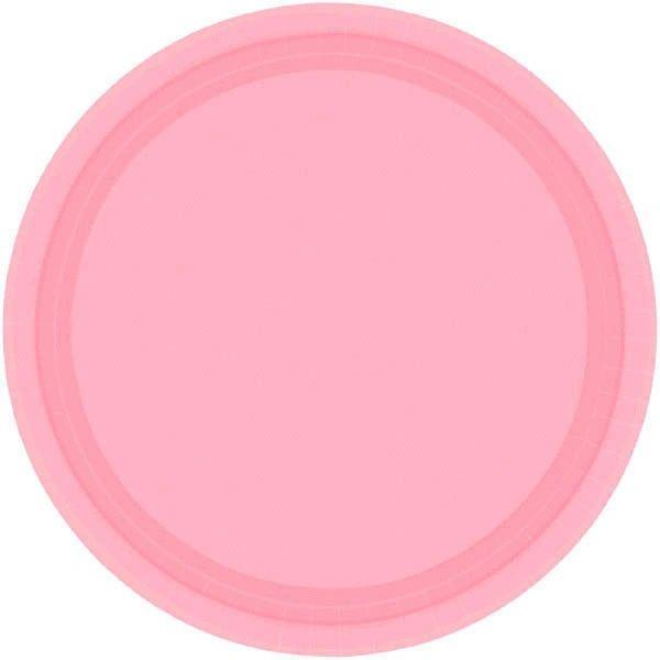 "New Pink Paper Dessert Plates, 7"" - 20ct"