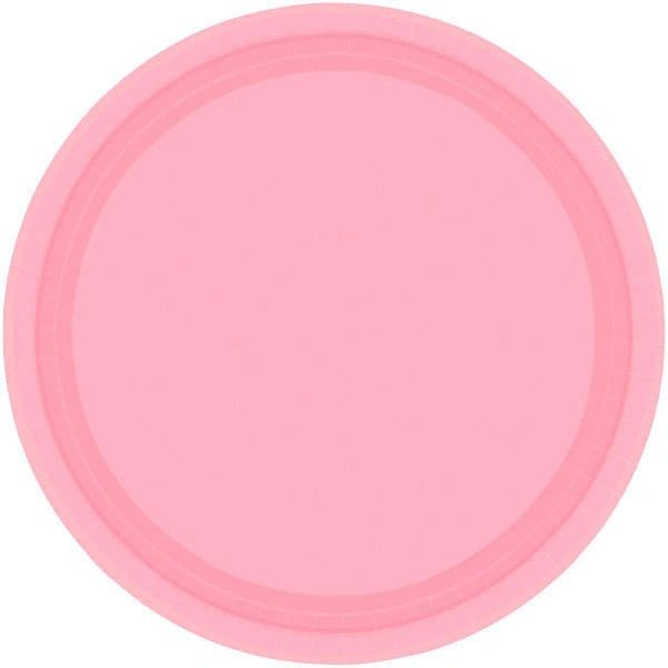 "New Pink Lunch Plates, 9"" - 20ct"