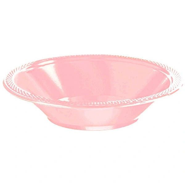 New Pink Plastic Bowls, 12oz - 20ct
