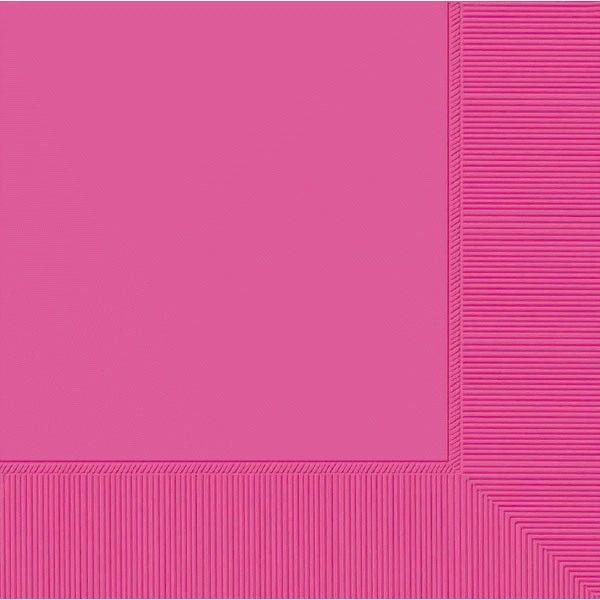 Bright Pink 3-Ply Dinner Napkins, 20ct