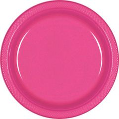 "Bright Pink Dinner Plates, 10 1/4"" - 20ct"