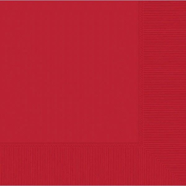 Red 3-Ply Dinner Napkins, 20ct