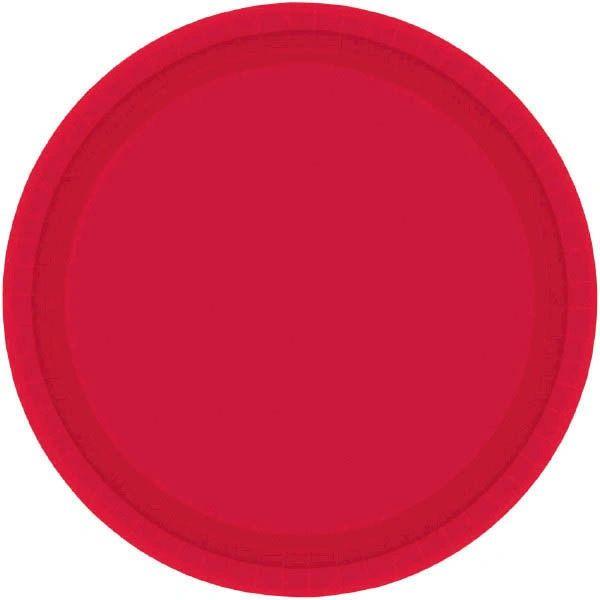 "Apple Red Dessert Plates, 7"" - 20ct"