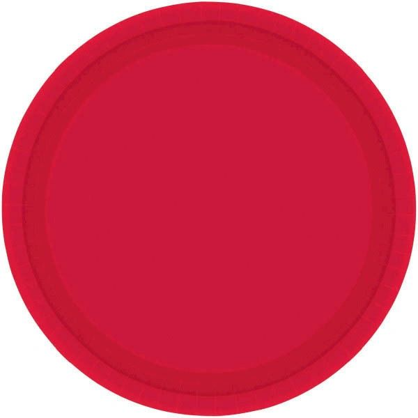 """Apple Red Lunch Plates, 9"""" - 20ct"""