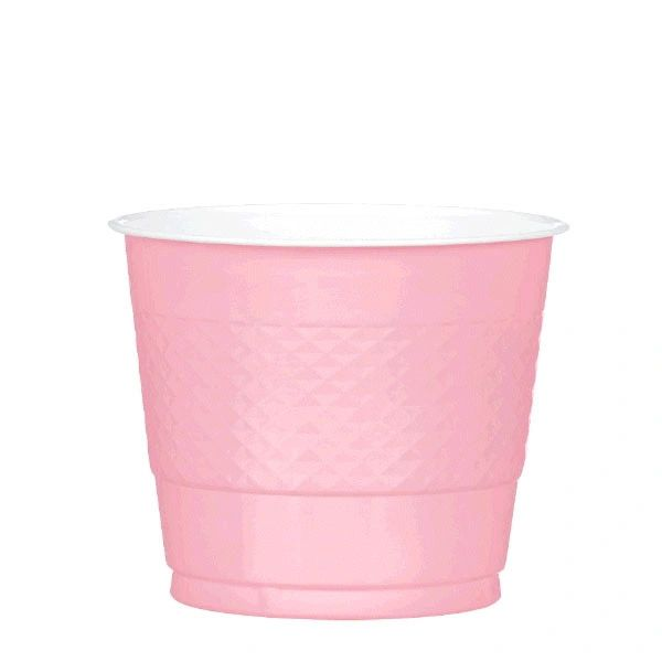 New Pink Plastic Cups, 9 oz - 20ct