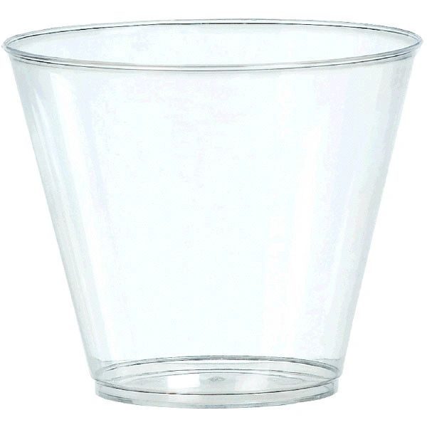 Big Party Pack CLEAR Plastic Tumblers, 9oz - 20ct