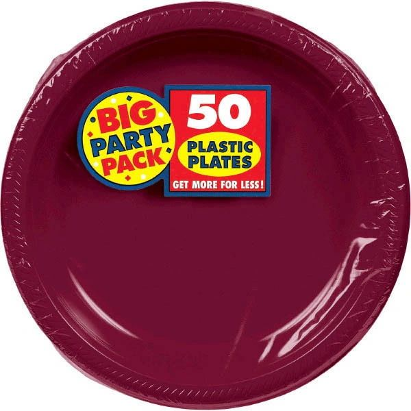 """Berry Big Party Pack Plastic Dinner Plates, 10 1/4""""- 50ct"""