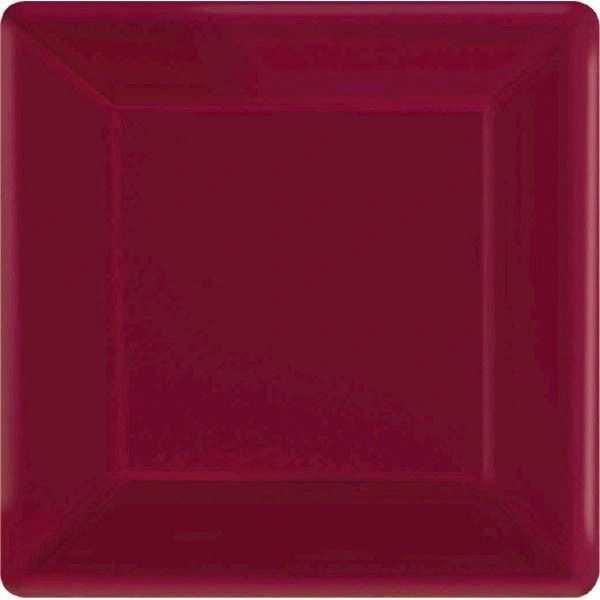 """Berry Square Paper Plates, 7"""" 20ct"""
