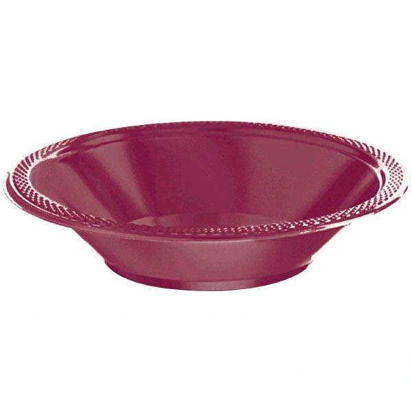 Berry Plastic Bowls, 12oz - 20ct