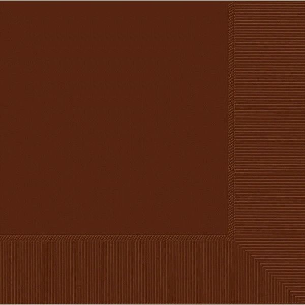 Chocolate Brown 2-Ply Beverage Napkins, 50ct