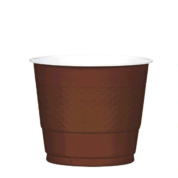 Chocolate Brown Plastic Cups, 9 oz - 20ct
