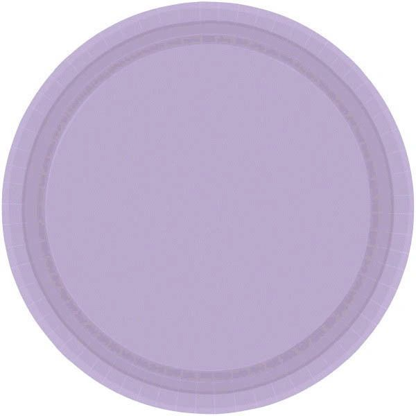"Lavender Lunch Plates, 9"" - 20ct"