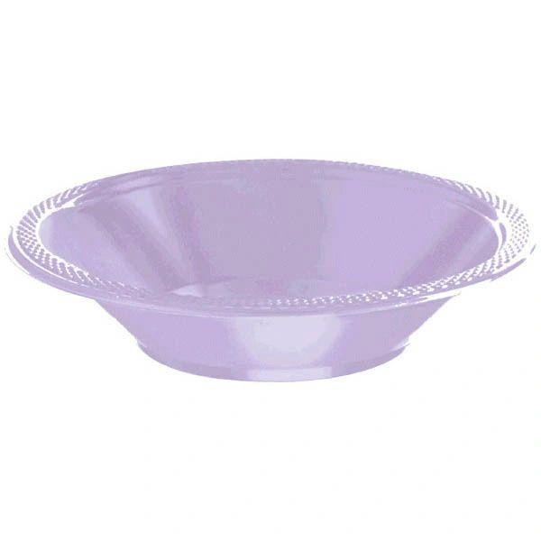 Lavender Plastic Bowls, 12oz - 20ct