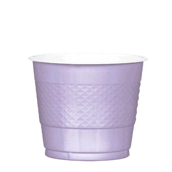 Lavender Plastic Cups, 9oz - 20ct