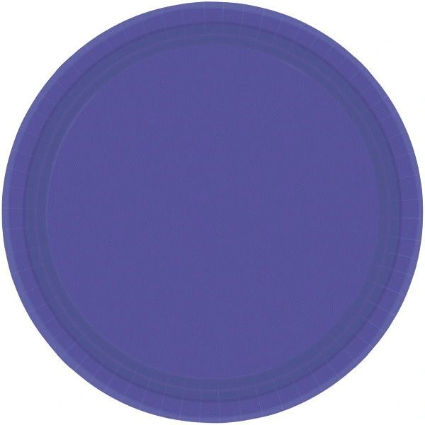 "New Purple Paper Dessert Plates, 7"" - 20ct"