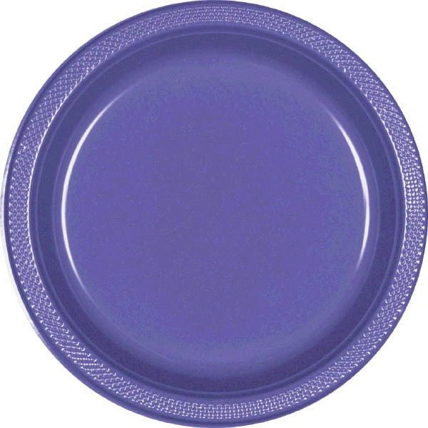 "New Purple Dessert Plates, 7"" - 20ct"