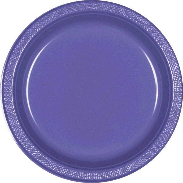 "New Purple Dinner Plates, 10 1/4"" - 20ct"