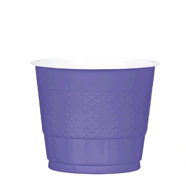 New Purple Plastic Cups, 9 oz - 20ct