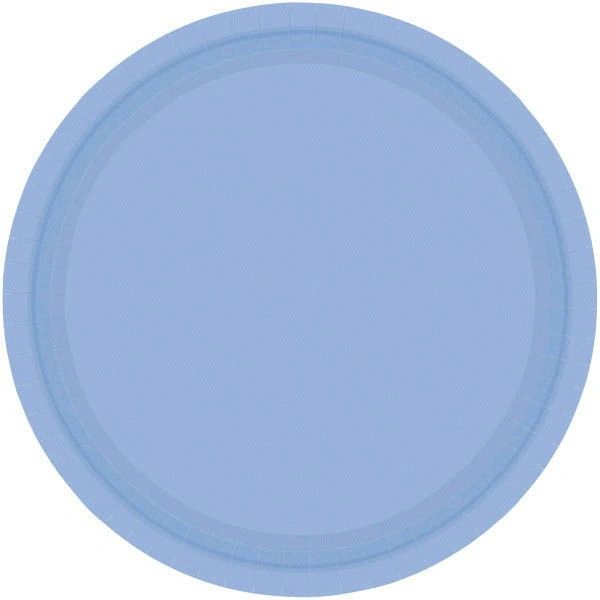 "Pastel Blue Lunch Plates, 9"" - 20ct"
