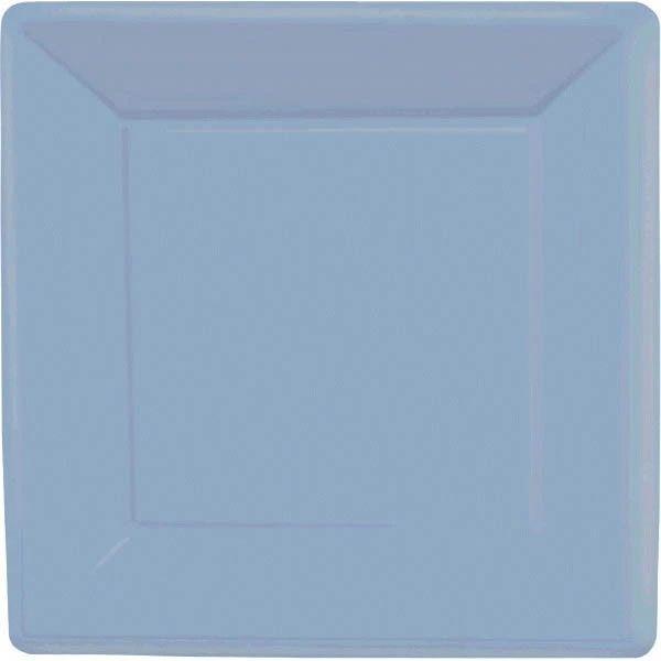 """Pastel Blue Square Paper Plates, 10"""" 20ct"""