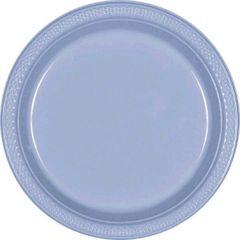 "Pastel Blue Dessert Plates, 7"" - 20ct"