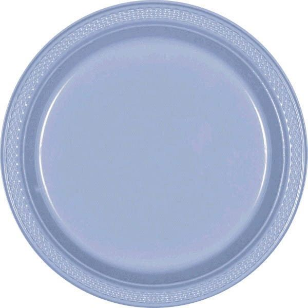 "Pastel Blue Dinner Plates, 10 1/4"" - 20ct"