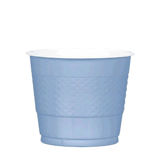 Pastel Blue Plastic Cups, 9 oz - 20ct