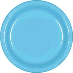 "Caribbean Blue Dessert Plates, 7"" - 20ct"