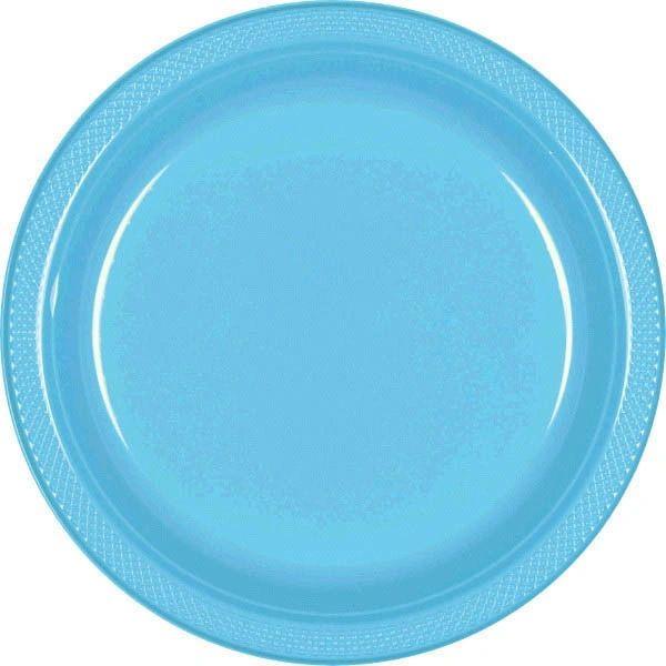 "Caribbean Blue Dinner Plates, 10 1/4"" - 20ct"