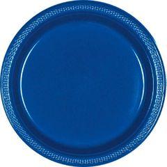 "Bright Royal Blue Dessert Plates, 7"" - 20ct"