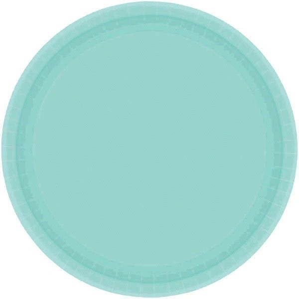 """Robin's-Egg Blue Paper Plates, 9"""" - 20ct"""
