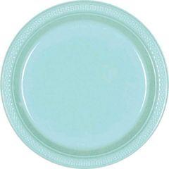 """Robin's-Egg Blue Dessert Plates, 7"""" - 20ct"""