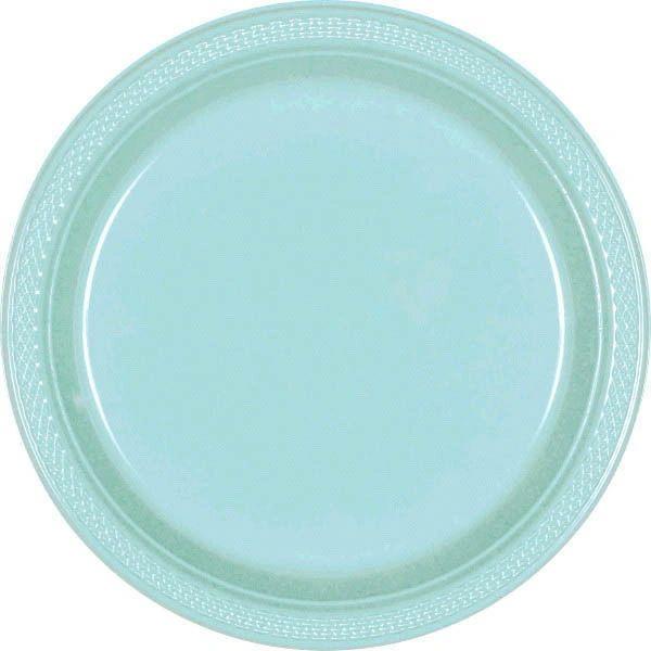 """Robin's-Egg Blue Dinner Plates, 10 1/4"""" - 20ct"""