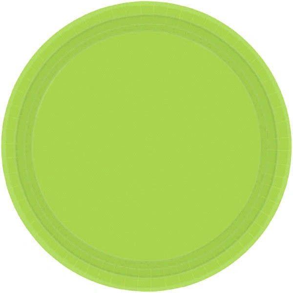 "Kiwi Dessert Plates, 7"" - 20ct"
