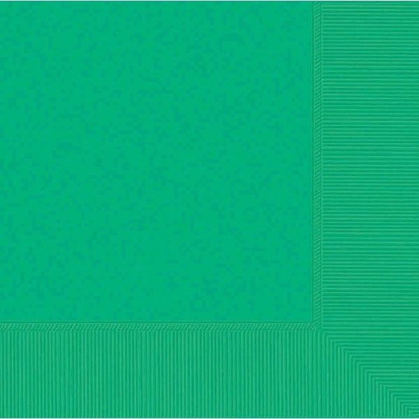Festive Green 2-Ply Beverage Napkins, 50ct