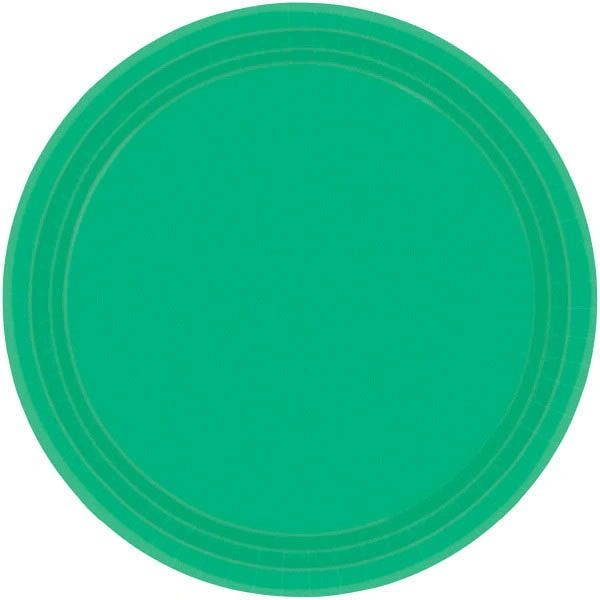 "Festive Green Lunch Plates, 9"" - 20ct"