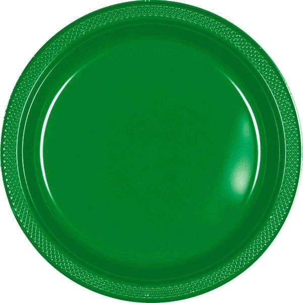 """Festive Green Dinner Plates, 10 1/4"""" - 20ct"""