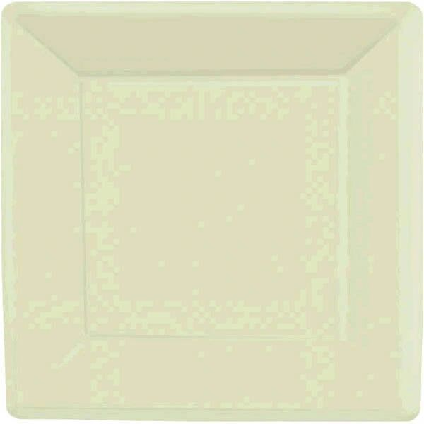 "Leaf Green Square Paper Plates, 7"" 20ct"