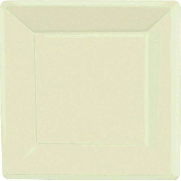 "Leaf Green Square Paper Plates, 10"" 20ct"