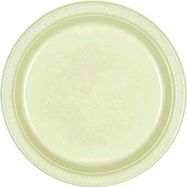 "Leaf Green Dessert Plates, 7"" - 20ct"