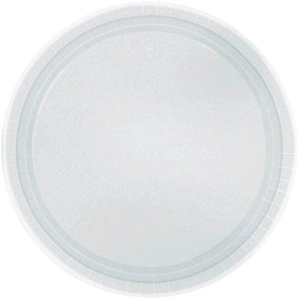"""Silver Lunch Plates, 9"""" - 20ct"""
