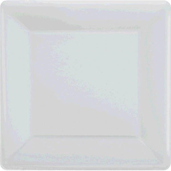 """Silver Square Paper Plates, 10"""" 20ct"""