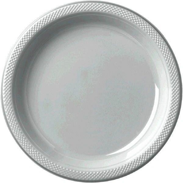"Silver Dessert Plates, 7"" - 20ct"
