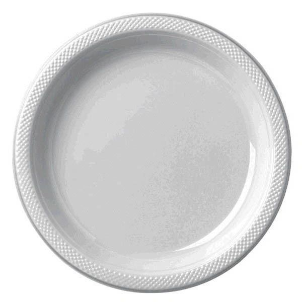 """Silver Dinner Plates, 10 1/4"""" - 20ct"""