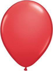"02 Red, Qualatex 11"" Latex Balloon 