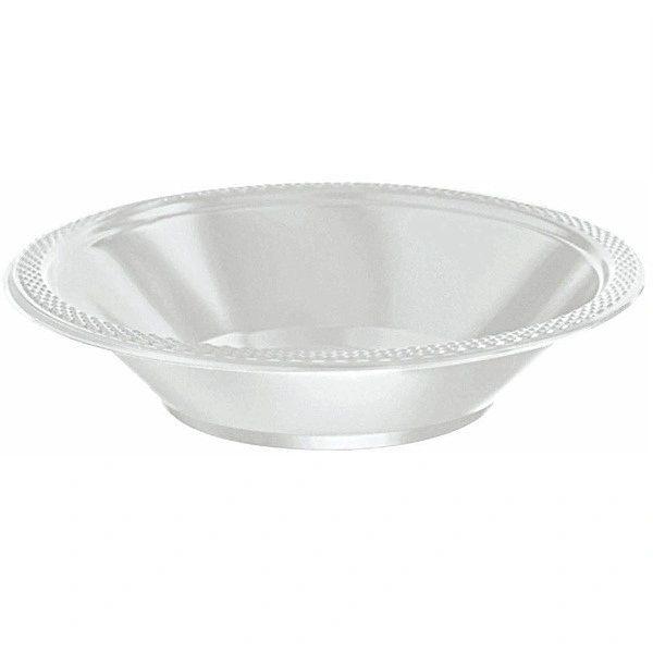Silver Plastic Bowls, 12oz - 20ct