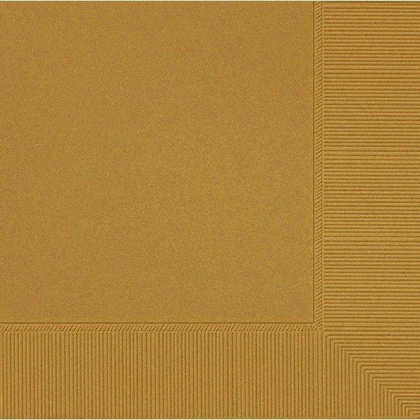 Gold 2-Ply Beverage Napkins, 50ct